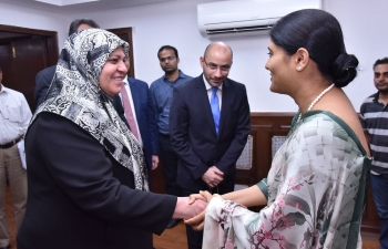 Dr. Adeela Hammoud Hussein, Health Minister of Iraq meeting with Smt. Anupriya Patel, Minister of State for Health amp Family Welfare in New Delhi on October 12, 2017 and discussed a wide range of issues in the field of Health for bilateral cooperation