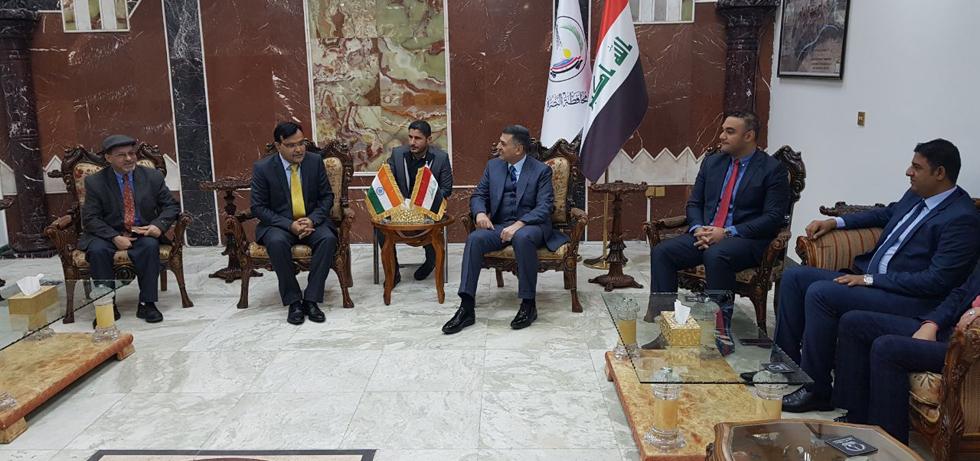 Meeting of Ambassador with Governor of Basra, Mr. Assad Abdulameen Al- Edani on January 10, 2018