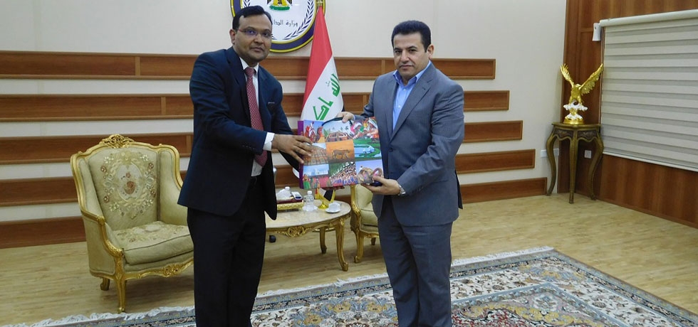 Meeting of Ambassador with Mr.Qasim Al Araji, Interior Minister of Iraq in Baghdad on July 19, 2018.