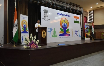 Glimpses of the 4th International Day of Yoga celebrated by the Embassy of India in Baghdad at the Iraqi Hunting Club on June 21, 2018