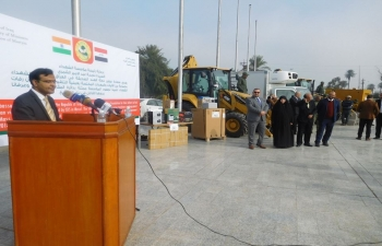 Handing over of equipment and vehicles to the Martyrs' Foundation of Iraq on December 23, 2018 as a humanitarian gesture from Government of India