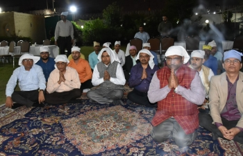 Baisakhi evening at the Embassy premise on April 15, 2019 – Prayers to Guru Nanak Dev Ji in his 550th Birth Anniversary Year