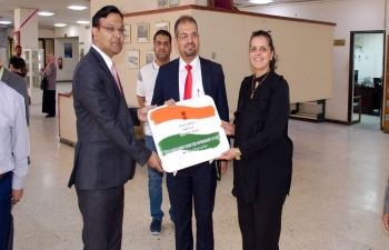 Setting up of India Corner at the main Library of the Baghdad University on June 02, 2019.