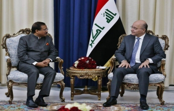 Visit of Shri V. Muraleedharan, Hon'ble MoS for External Affairs to Baghdad on September 16, 2019.