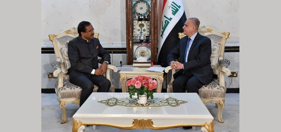 Honble MoS Shri V. Muraleedharan called on Dr. Mohamed Ali Al Hakim, FM of Iraq in Baghdad on September 16, 2019