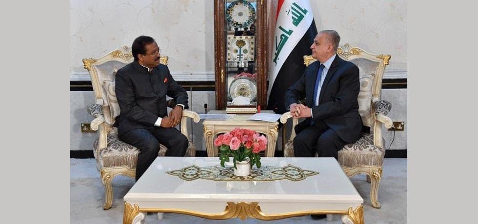 Honble MoS Shri V. Muraleedharan called on Dr. Mohamed Ali Al Hakim, FM of Iraq in Baghdad on September 16, 2019