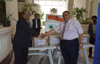 Handing Over of Indian Engineering Books to the University of Mosul by the Embassy at its premises on October 10, 2019.