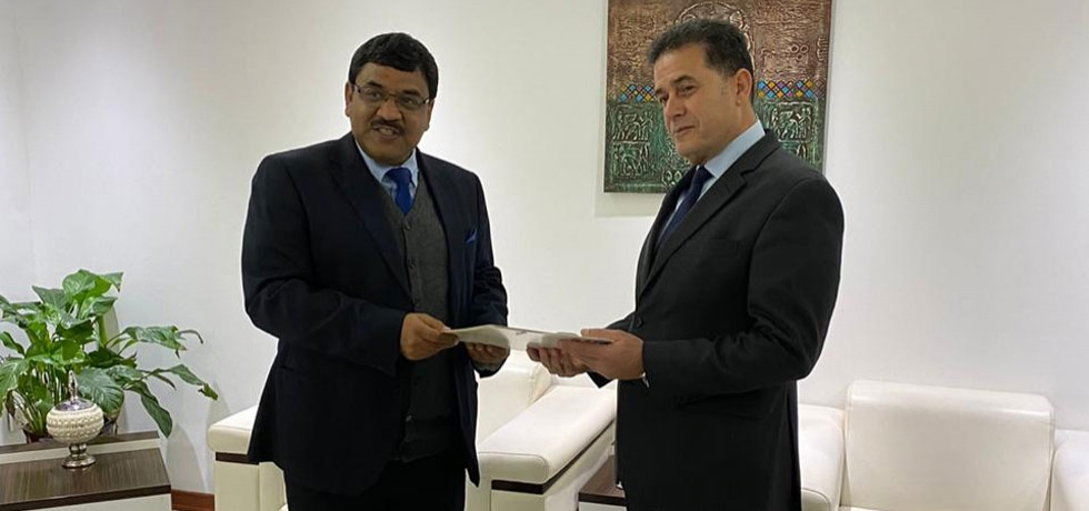 Ambassador Birender Singh Yadav presented open copy of Letter of Credence to H.E. Mr. Abdul Karim Hashim, Senior Deputy Foreign Minister of Iraq on January 23, 2020.