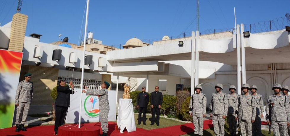 Celebration of 71st Republic Day of India at Embassy premises on January 26, 2020