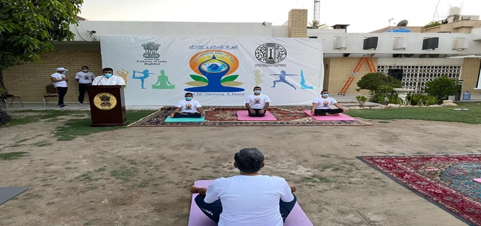 6th International Day of Yoga celebration at Embassy of India.