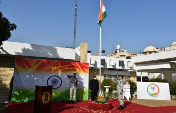 Celebration of 72nd Republic Day at Embassy of India, Baghdad on January 26, 2021.