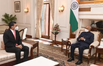 Shri Prashant Pise, Ambassador-designate to Iraq called on Hon'ble Rashtrapati ji Shri Ram Nath Kovind.