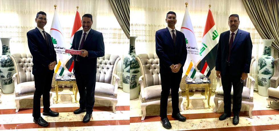 Ambassador Prashant Pise called on H.E. Dr. Hani Mousa Badr Al Eqabi, Hon'ble Minister of Health and Environment of Iraq on 01st September, 2021